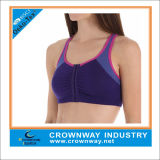 Zippered Front Opening Fit Sport Bra for Women