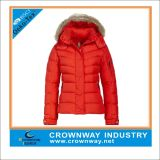 Custom Red Winter Quilted Down Jacket for Women