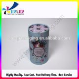 Silver Hot Stamping Cardboard Cylinder Cosmetic Box