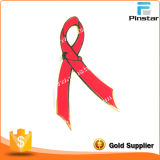 HIV Aids Pin Badge Charity Red Enamel Metal Ribbon Safety Lapel Pin