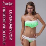Lady Fringe Bandeau Top Strapless Bikini Set (L3214-2)