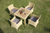 Rattan Dining Quare Table and Chair Set Outdoor Wicker Furniture