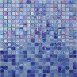 Glass Mosaic Ice Jade Color Blue Bathroom Background Melting Glass Mosaic