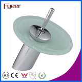 Fyeer Round Glass Spout Waterfall Basin Tap (QH0811)