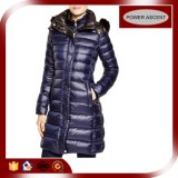 2015 Ladies Shiny Purple Long Fill Goose Down Jacket