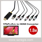 1.8m USB YPbPr+R+L to HDMI Data Adapter Converter Coaxial Cable