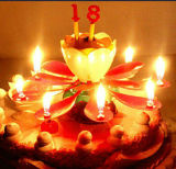 OEM Auto-Open Flowers Cake Candle