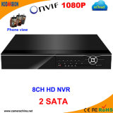 NVR 8 Channel 1080P with 2SATA
