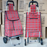 Lightweight Folded Trolley Bag on Wheel with PE Polyester Dxt-8097