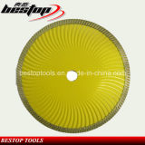 Super Thin Wave Turbo Blade for Cutting Stone Material