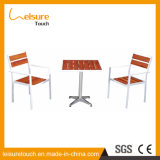 Leisure Hotel Home Coffee Polywood Aluminum Dining Table and Chair Outdoor Garden Furniture