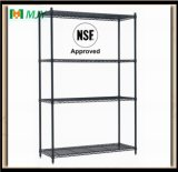 Black Powder Coating Approved Wire Shelving