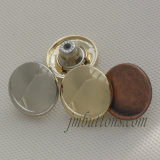 New Design Shiny Nickle Metal Button for Garment Accessory