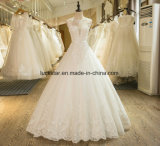 New Arrival A-Line Sleeveless Tulle Lace Appliques Wedding Dress 2017