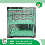 Folding Metal Cage Trolley for Warehouse with Ce