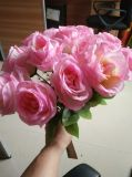 Wedding Use Artificial Silk Rose Bouquet Flower