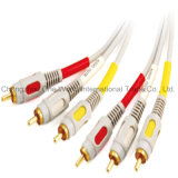 Male to Male 3 RCA Plug to 3RCA Plug Cable