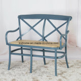 2 Seater Wood Cross Back Bench Chair (UF-204)