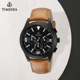 Men′s Watch Leather Fancy Chronograph Sport Watch 72408