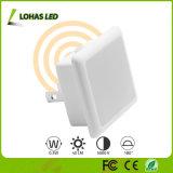 Light Sensor Daylight White LED Night Lamp for Kids Room