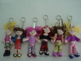 Cute and Colorful Plush Doll Toy Keychain with Factory Price