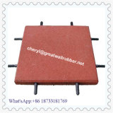 Outside Playround Rubber Tile Floor Brick Thickness 8mm to 100mm