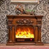 Ce Approved sculpture 3D LED Lights Electrical Fireplace (318SS)