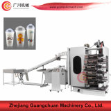 Curved Surface 6 Colors Cup Printing Machine with High Speed