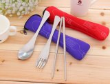 Stainless Steel Travel Cutlery Set Portable Cutlery Set with Pouch Bag