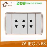 American Standard 1gang 1way Switch Triple 2pin Socket Outlet