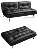 Classic PU or Fabric Sofa Cum Bed with All Metal Frame