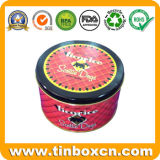 Round Metal Tin Biscuit Can for Dog, Pet Food Tin Boxes