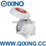 IP67 Flush Mounted Electrical Male Socket for Industry (QX234)