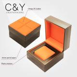 Custom Orange PU Leather Plastic Watch Box