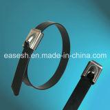 Coated Ball Lock Stainless Steel Cable Ties (German Standard)