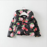 Printed Flower Girl Children Coat for Winter Clothes