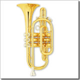 Gold Lacquer Bb Key Cornet (CN8710)