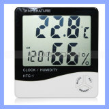 Digital LCD Display Thermometer, Hygrometer with Clock Function, Digital Hygrometer (HY-010)