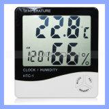 Digital LCD Display Thermometer, Hygrometer with Clock Function, Digital Hygrometer (HY-010)