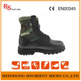 Full-Grain Leather Military Boots with Good Quality Rubber Sole