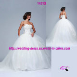 Princess Ball Gown Wedding Dress with Lace up Back
