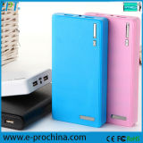 Portable Leather Wallet Power Bank 10400mAh Dual USB Port