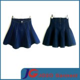 Girls Fashion Pleated Denim Mini Skirt (JC2083)