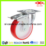 100mm Swivel Locking PU Industrial Castor (P102-26D100X30S)