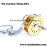 in Stock Wholesale Fly Reel Key Chain Fishing Gift