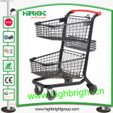 CE & ISO Approved Two Tier Grocery Shopping Cart for Sale