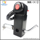 Trailer Shackle Mount Hitch Receiver D Ring with Lock Pin