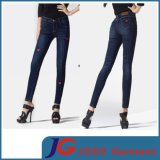 Red Lips Printing Girl Dance Ankle Skinny Jeans (JC1184)