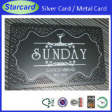 Black Color Silver Engraved Metal Business Card