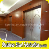 Decorative Etched Design Stainless Steel Elevator Sliding Door
